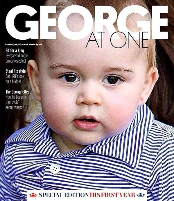 Almost one year old! Sunday's edition of Fabulous magazine, included inside The Sun newspaper, will be a special edition to celebrate Prince George's upcoming birthday on July 22. ‪#‎PrinceGeorge‬