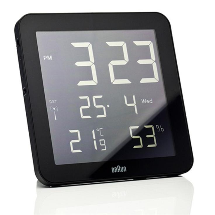 Beautiful Digital Wall Clock By Braun: A Global Radio Controlled Digital  Wall Clock Displaying