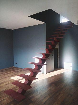 лестница на одном центральном косоуре