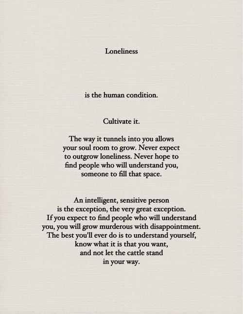 Loneliness #introvert