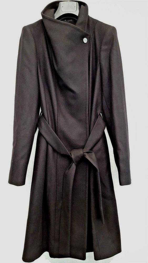 93e09fc1e9933 TED BAKER TED SIZE 2 UK 10 BLACK LORILI CASHMERE   WOOL MIX COAT BNWT   fashion  clothing  shoes  accessories  womensclothing  coatsjacketsvests  (ebay link)