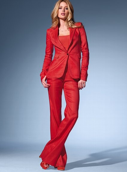 The Christie Flare Pant in Stretch Linen. Wow. Feels a little Austin Powers to me.
