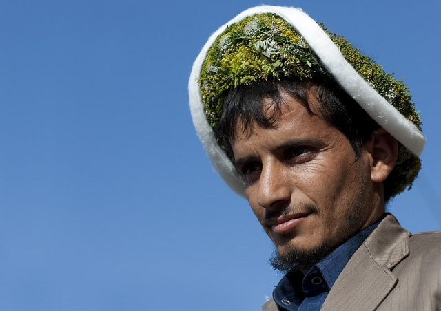Flower man tribe in Aseer - Saudi Arabia