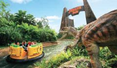 Jurassic Park Rapids Adventure - Universal Studios   Resorts World Sentosa Singapore