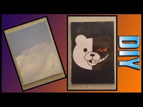 Okula Dönüş- Defter Süsleme // Back to School- DIY Notebook + Monokuma - Danganronpa + - YouTube