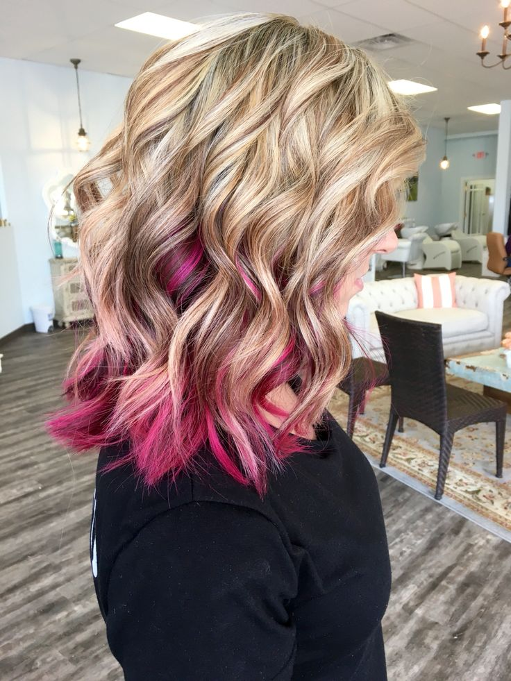 Blonde With Magenta Done By Allydestout Hair