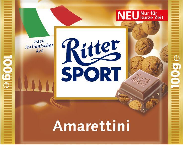 RITTER SPORT Amarettini nach italienischer Art gab es 2004 und 2005 im Sortiment (Länderpromo).