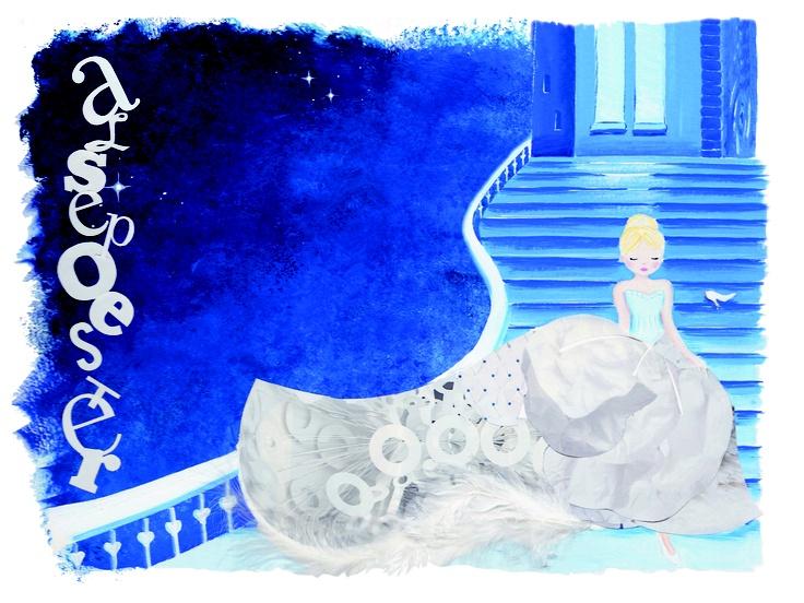Illustratie door Debbi Verbakel Assepoester