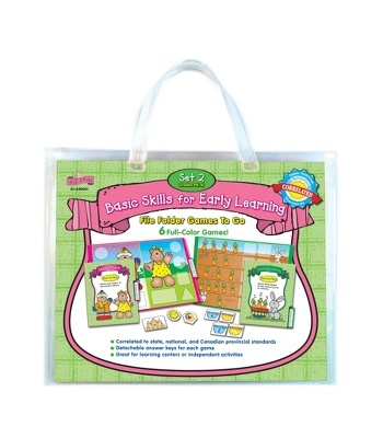 Basic Skills for Early Learning Set 2 File Folder Games to Go® File Folder Game - Carson Dellosa Publishing Education Supplies: Game Pieces, Game Folders, File Folder Games, Basic Skills, Cdwishlist Basic, Cdwish13, Game Boards, Products, File Folders
