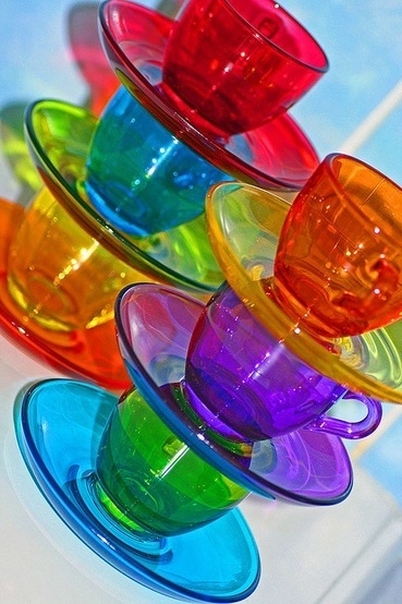 Brightly coloured cups from wayfair.com #home #kitchen #decor