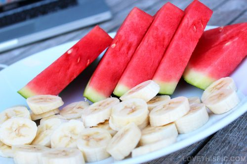 Watermelon and banana food fruit watermelon banana food images melon food pictures healthy food