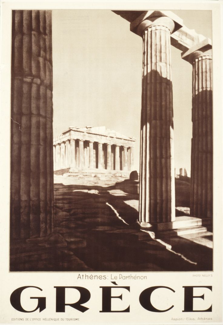 A journey in time  In 1922, Greece's Bureau of Foreigners and Exhibitions is upgraded to a 'Service'. In that year, under the heading Independent Travel without Trouble, Thomas Cook's Traveller's Gazette begins: 'Let us suppose one is desirous of taking wife or family for a tour on the continent …' Photograph: All posters from the Greek National Tourism Organisation