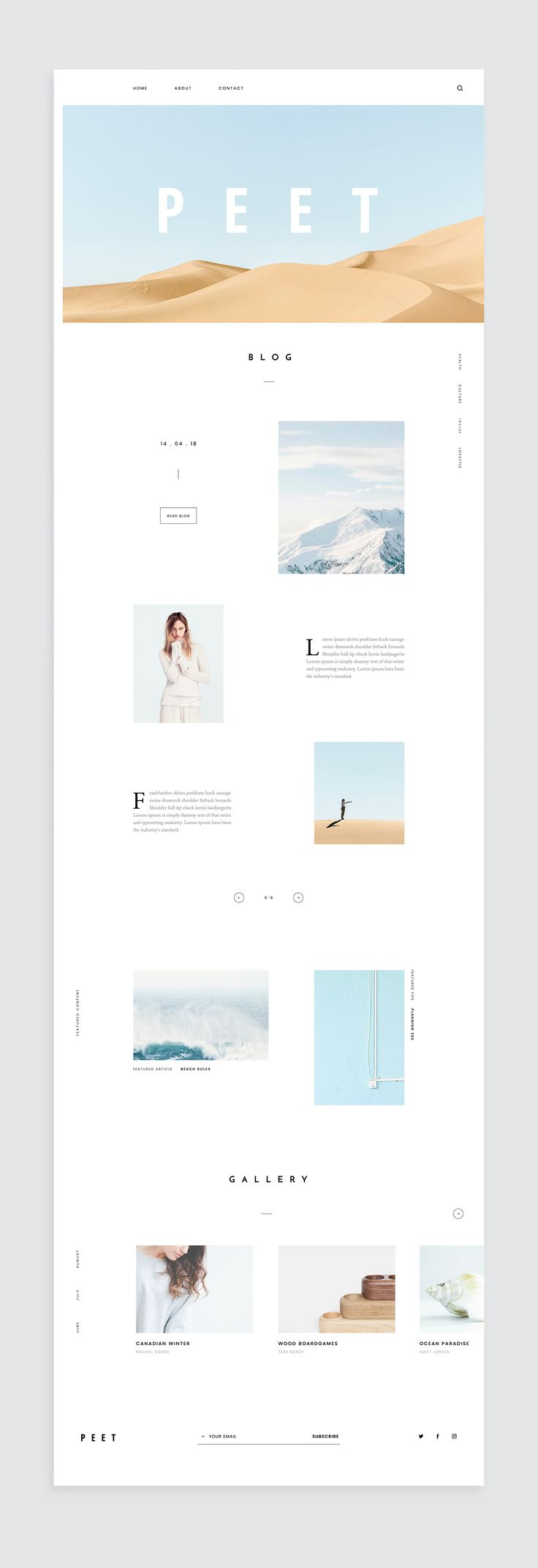 Content-Based Website on Behance