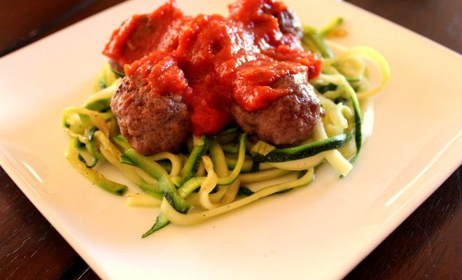 Zucchini Spaghetti & Meatballs Easy and healthy weekly meal prep