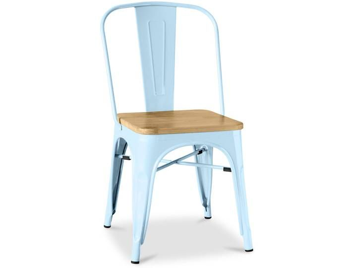 Privatefloor Tolix Stuhl Quadratischen Holz Pauchard Style Metall Tolix Stuhl Stuhle Esszimmer Mobel