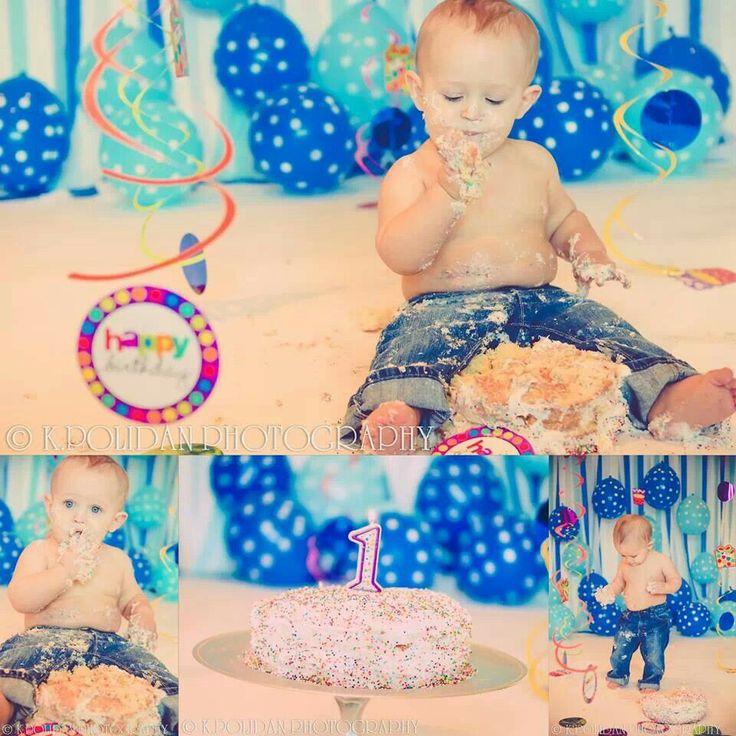 Boy cake smash, cake smash, 1st birthday,  baby shoot, cake smash photo shoot, cake smash backdrops,  kpolidanphotography, baby photoshoot, bow tie, balloons, baby posing, birthday backdrop