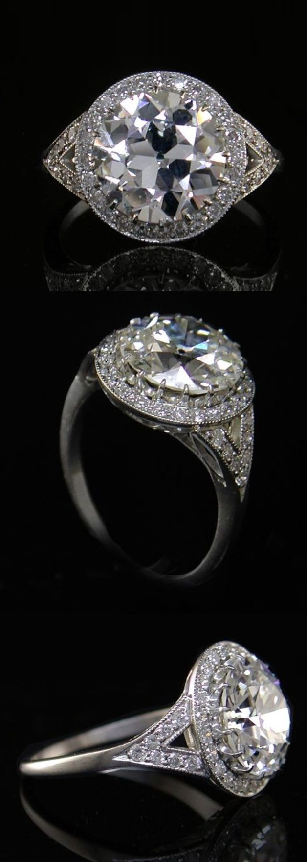Bridal classics necklace sets mj 259 - An Art Deco Platinum And Diamond Ring 1930s Centring An Old European Cut Diamond