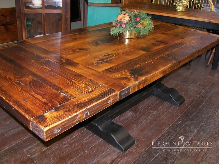 Pear Pedestal Trestle Base   This Custom Farm Table / Harvest Table Was  Designed And Crafted