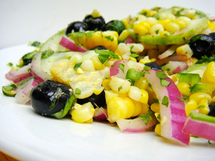 Corn and blueberry salad | Salads | Pinterest