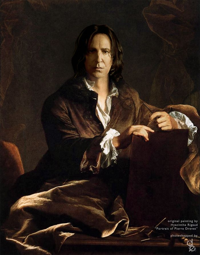 severus-snape-my-eternal-prince:  via Portrait of Severus Snape by ~deej240z on deviantART  Awesome!    This is a great job of photo-painting manipulation.