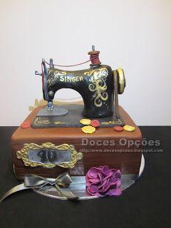 Doces Opções: Bolo de aniversário Máquina de costura