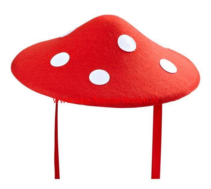 Paddestoel hoed rood-wit 1maat direct leverbaar! - SEP Feestartikelen