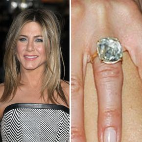 Jennifer Anistons Ring From Justin Theroux Is Estimated To Be 8 9 Carats And Worth
