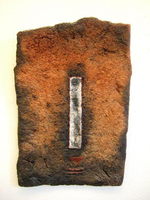 Ceramic wall object  (50 x 34 cm) by Patty Schilder