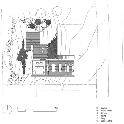 Ridge Road Residence,Lower Floor Plan