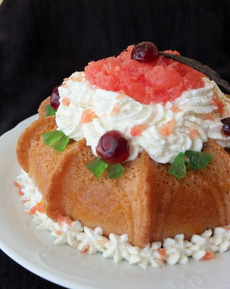 Pink grapefruit and kirsch savarin - lili's cakes #grapefruit #savarin #sugarfree with #maplesyrup #recipe