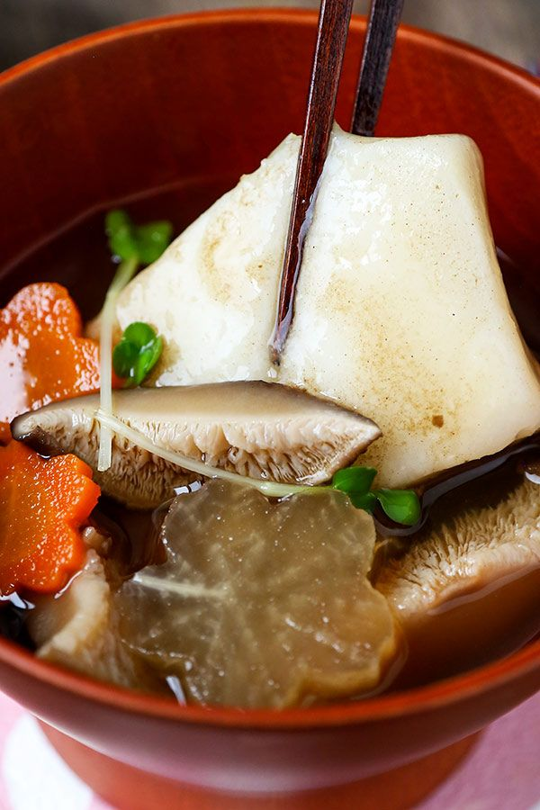Ozoni (Japanese New Year\u0027s Mochi Soup)
