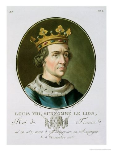 King of France  Louis VIII | Portrait of Louis VIII, Called Le Lion, King of France Giclee Print by ...