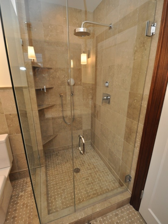 Seagrass Limestone Shower - great texture and flooring
