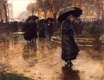 Rainy Late Afternoon, Union Square - Frederick Childe Hassam