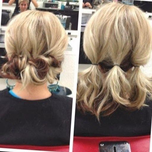Chignon pour cheveux courts http//lookvisage.ru/chignon