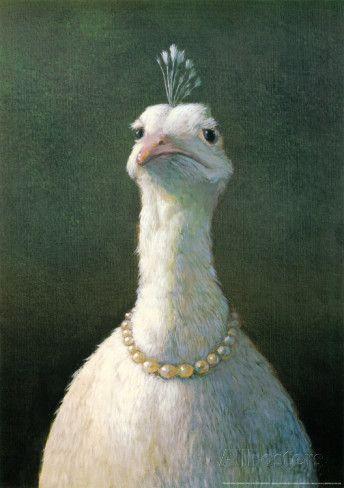 Fugl med perler|Fowl With Pearls Kunsttrykk