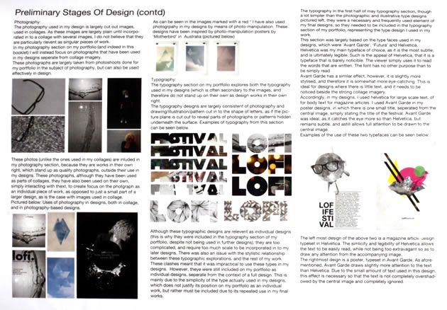 NCEA scholarship design sketchbook