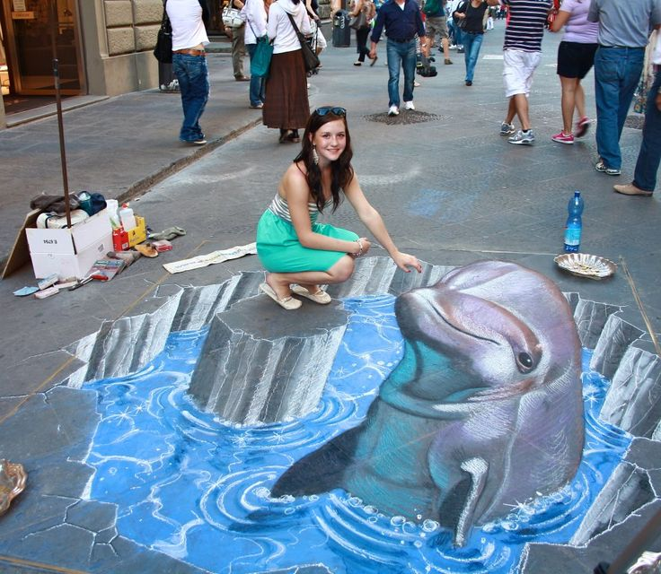 Sidewalk Chalk Art Must have taken for ever. But looks SOOO AMAZING !!!!!!!