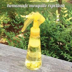 Homemade Mosquito Repellant has lavender, vanilla, and lemon. Smell pretty and repel those nasty pests! I like it.