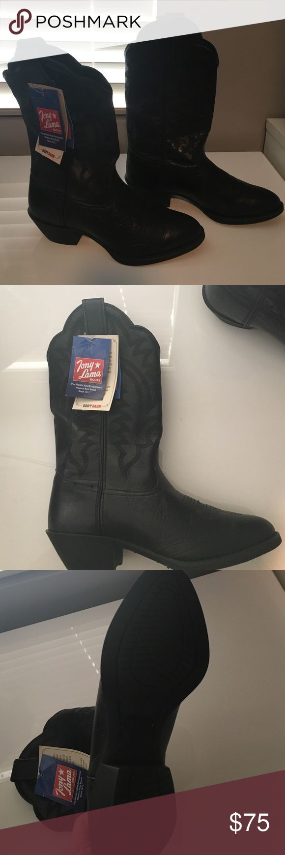 Tony Lama Women's Cowboy Boots - Size 7 Brand new, never worn, real leather cowboy boots. Tony Lama Shoes Heeled Boots