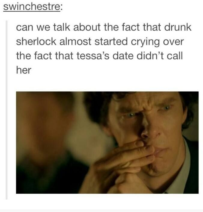 #SPOILERS #Sherlock #Series3 - Drunk!Sherlock makes up for all the emotions Sober!Sherlock doesn't have.