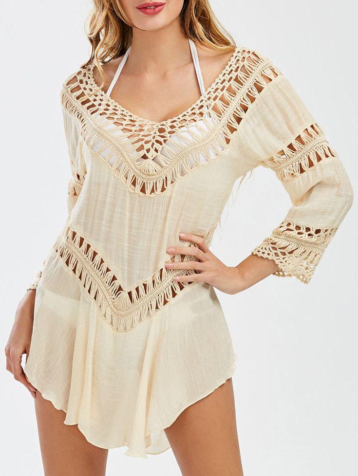 Flounce Crochet Dress Cover Up