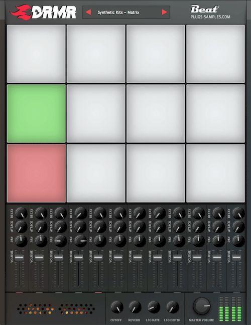 Beat releases Beat DRMR free drum sampler VST/AU plugin | daw vst