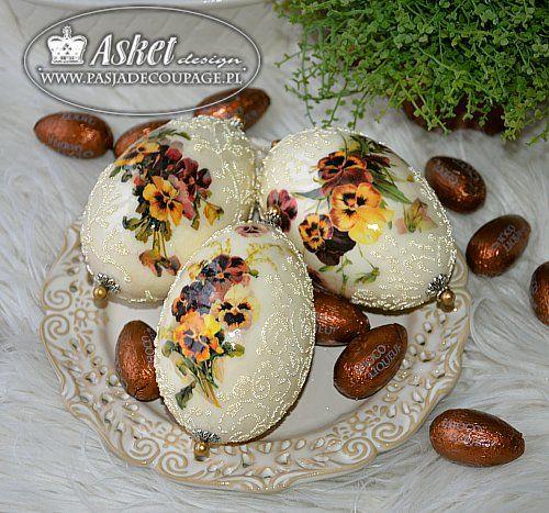motywy bratków na jajka gęsie - papier Asket Design Collection