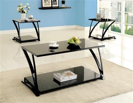 black living room table sets. Tamori Black Metal Glass Coffee Table Set  By Acme Furniture 508 best sets images on Pinterest table