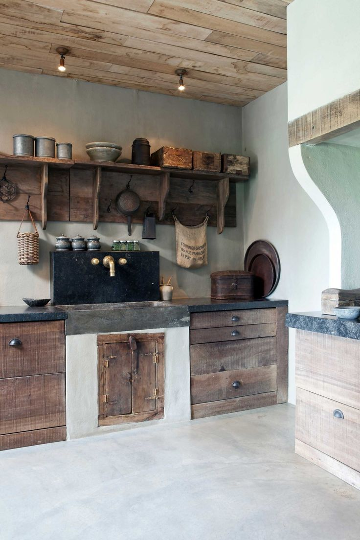 Plafondlamp Keuken Landelijk : Keuken op Pinterest – Vrijstaande Keuken, Keukens en Muren Van De