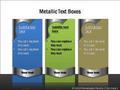 Metallic Text Boxes