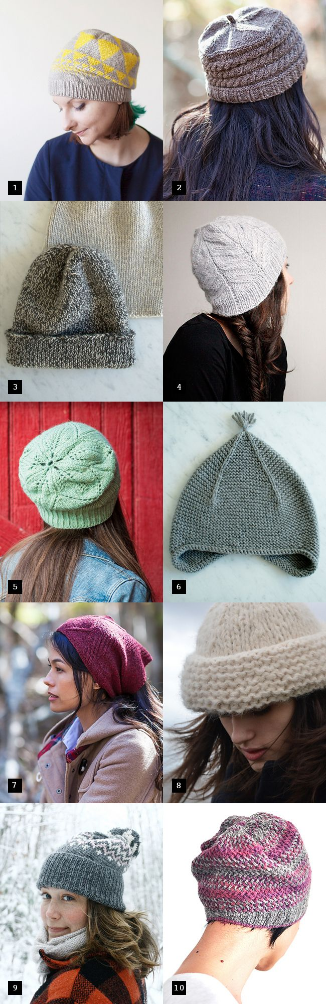 Best new hat patterns Some are free