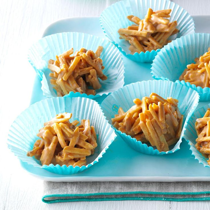 Texas Tumbleweeds Recipe -Tumbleweeds blow across the roads in some parts of Texas, and I think these cute stacks look like them. I've been make these sweets with my sister for years.—Karen Lemay, Pearland, TX