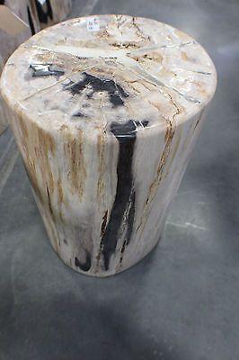"18"" H Stool Solid Petrified Wood Pedestal White  SLC UT Furniture Sale Event 2"